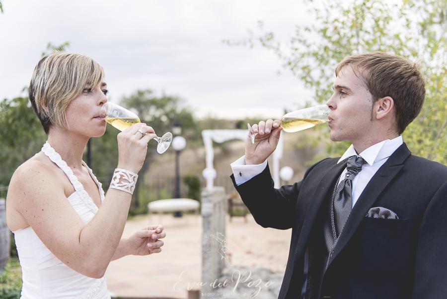 Boda al aire libre, ceremonia civil, brindis