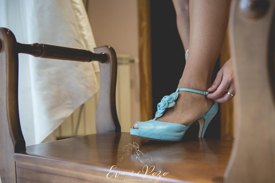 Preparativos de la novia, zapatos de la novia